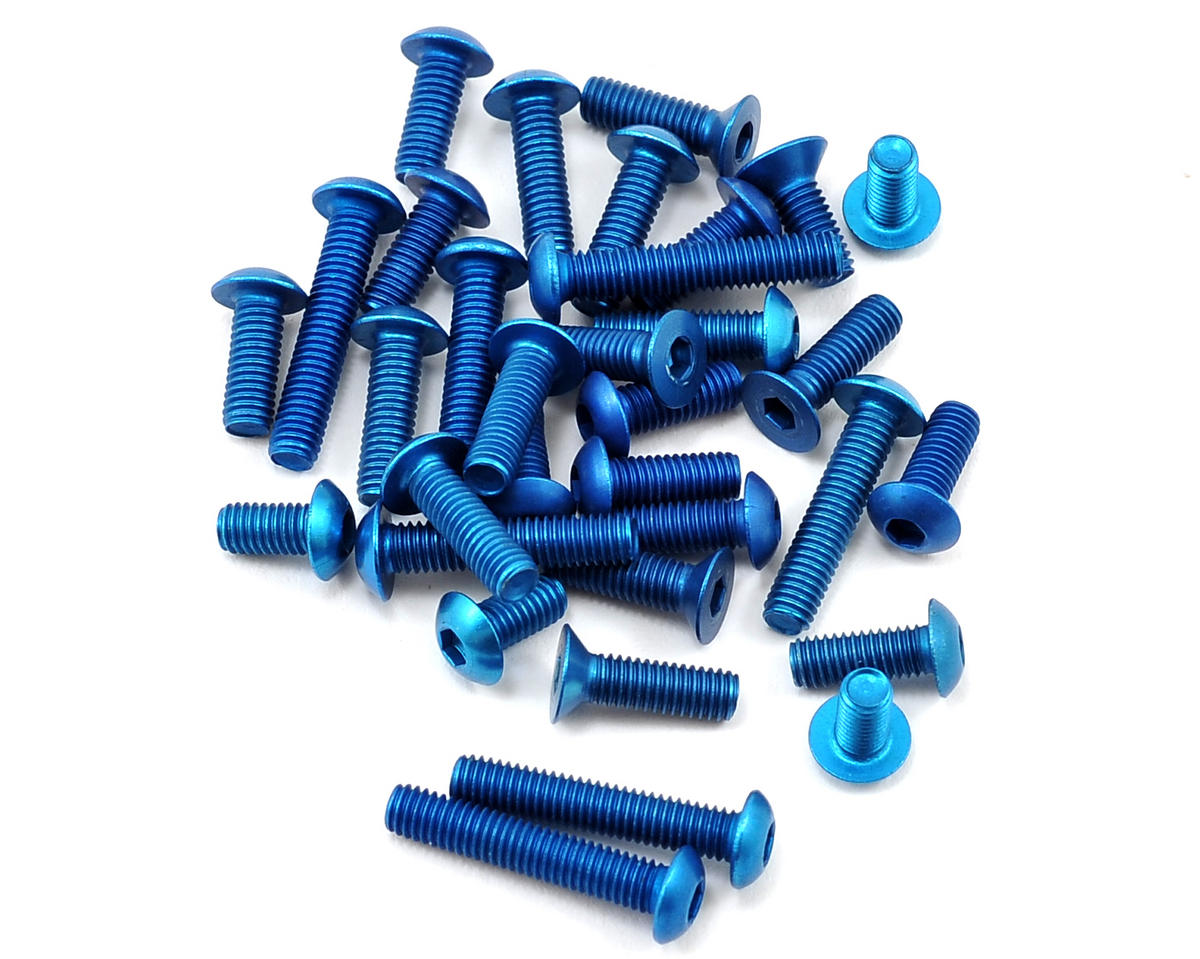 Team Associated B5 Factory Team Aluminum Screw Kit (Blue)