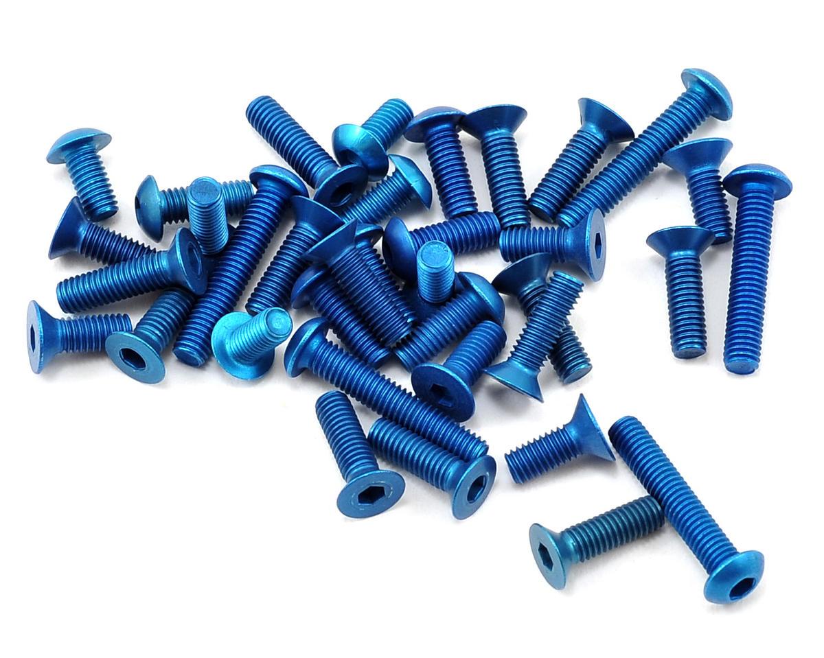 Team Associated B5M Aluminum Screw Kit (Blue)