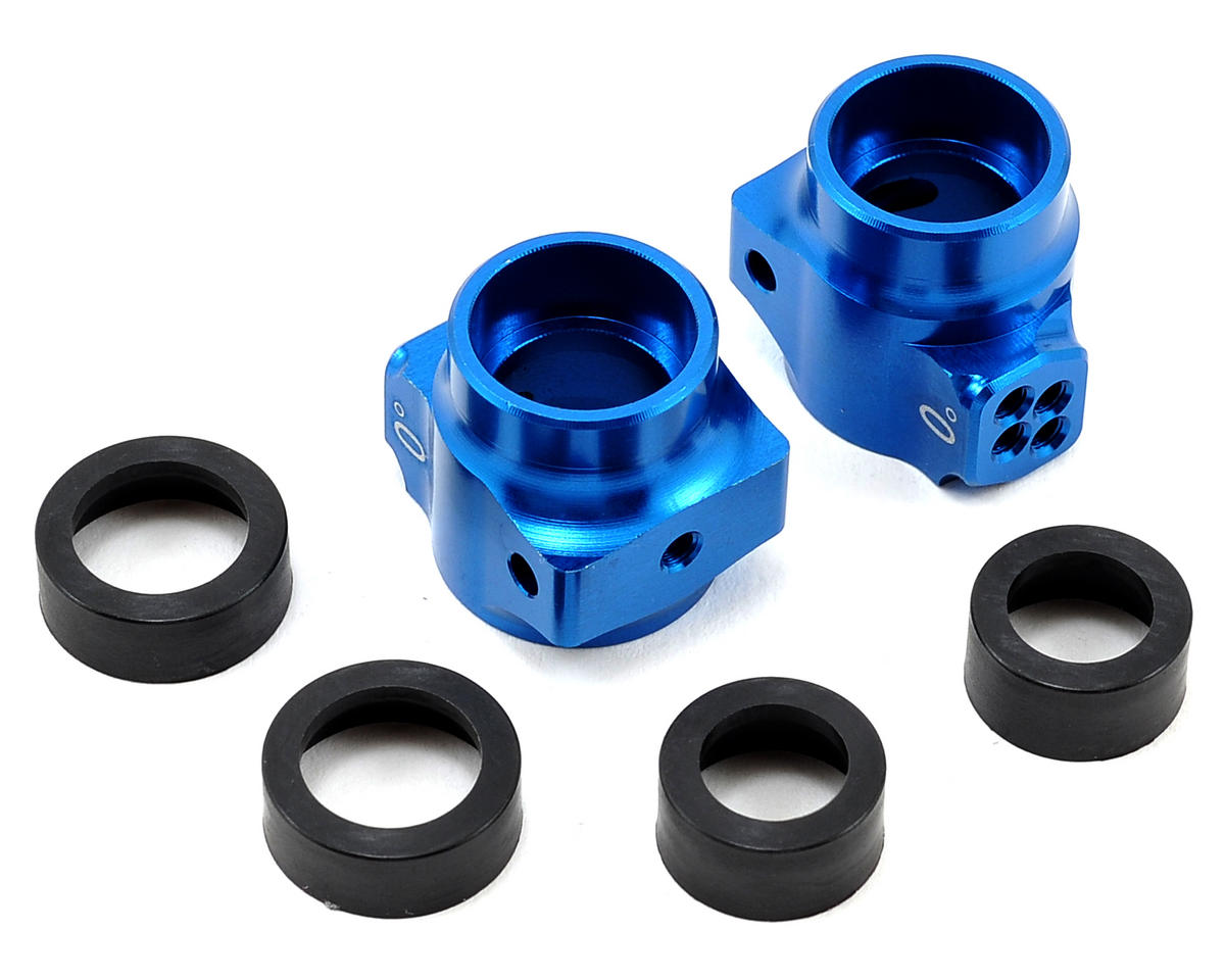 B5 Aluminum Rear Hub Set (Blue) by Team Associated