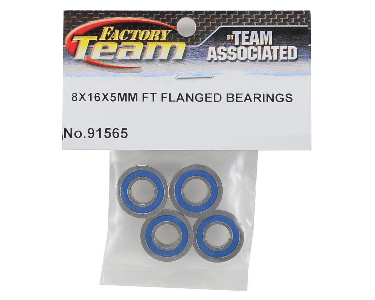 Team Associated 8x16x5mm Factory Team Flanged Bearing (4)