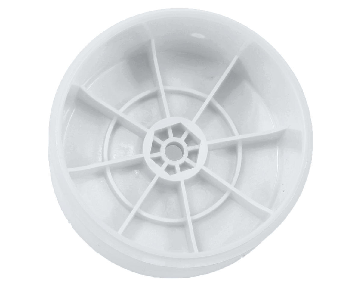 Team Associated 12mm Hex 61mm Rear Wheel (2) (White)