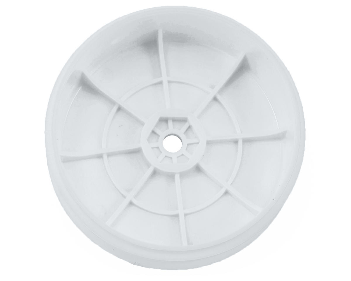 Team Associated 12mm Hex 61mm 2WD Front Buggy Wheels (2) (White) (B6)