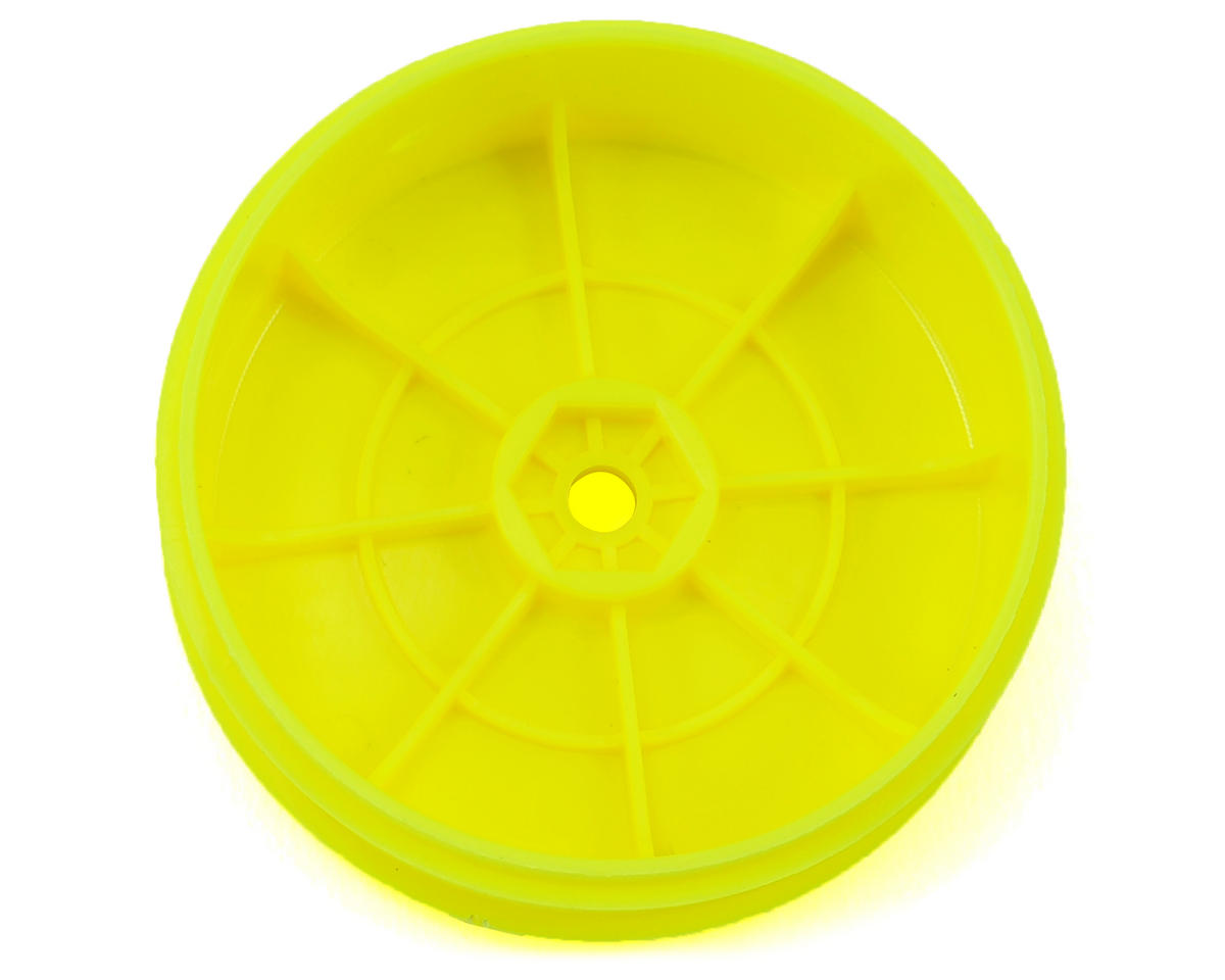 Team Associated 12mm Hex 61mm 2WD Front Buggy Wheels (2) (Yellow) (B6)