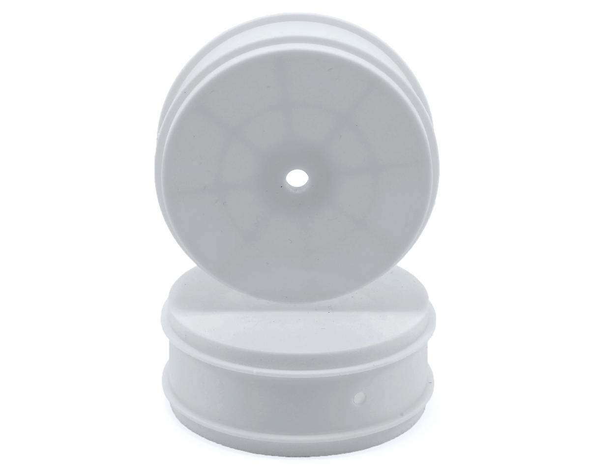 Team Associated 12mm Hex 61mm 4WD Front Buggy Wheels (2) (White)