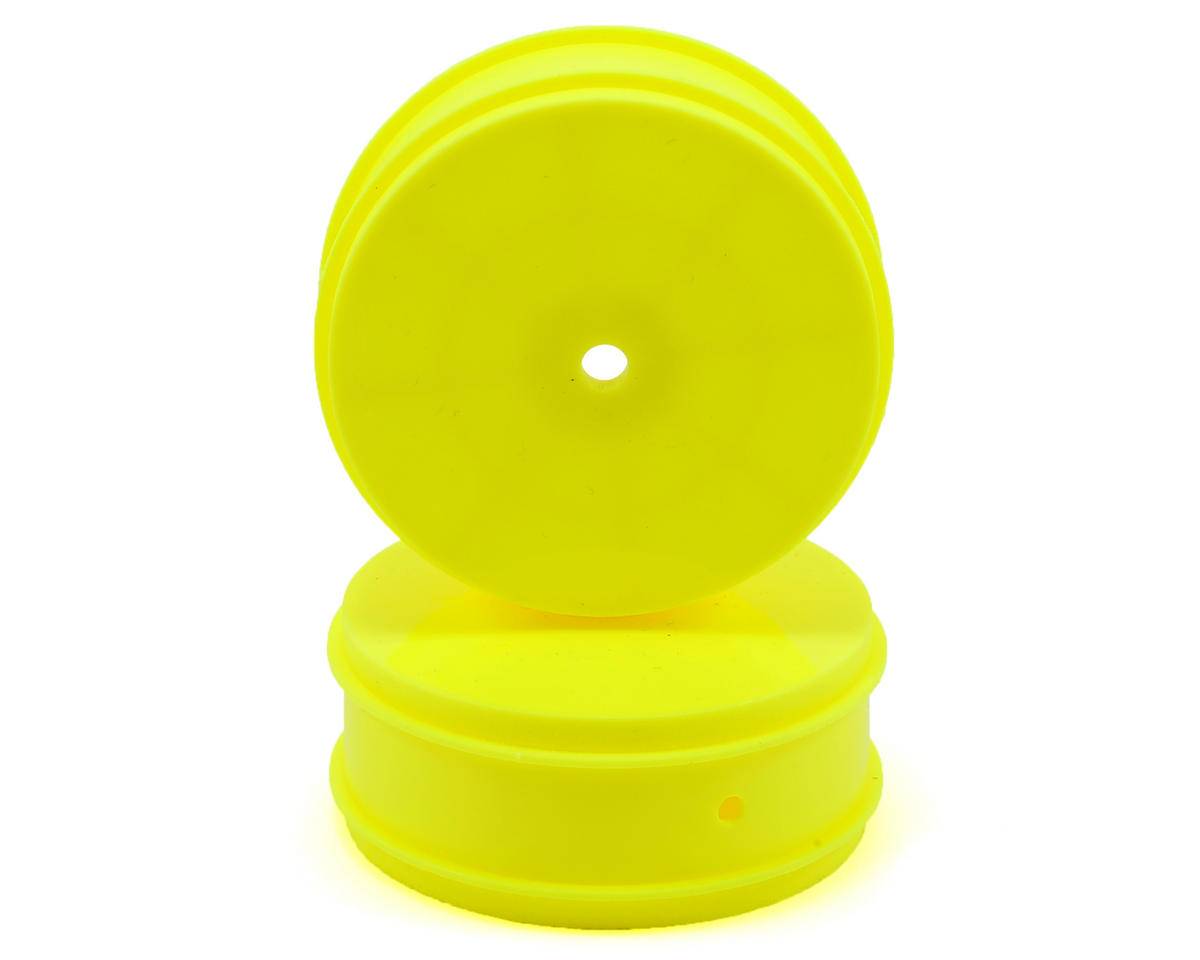 Team Associated 12mm Hex 61mm 4WD Front Buggy Wheels (2) (Yellow)