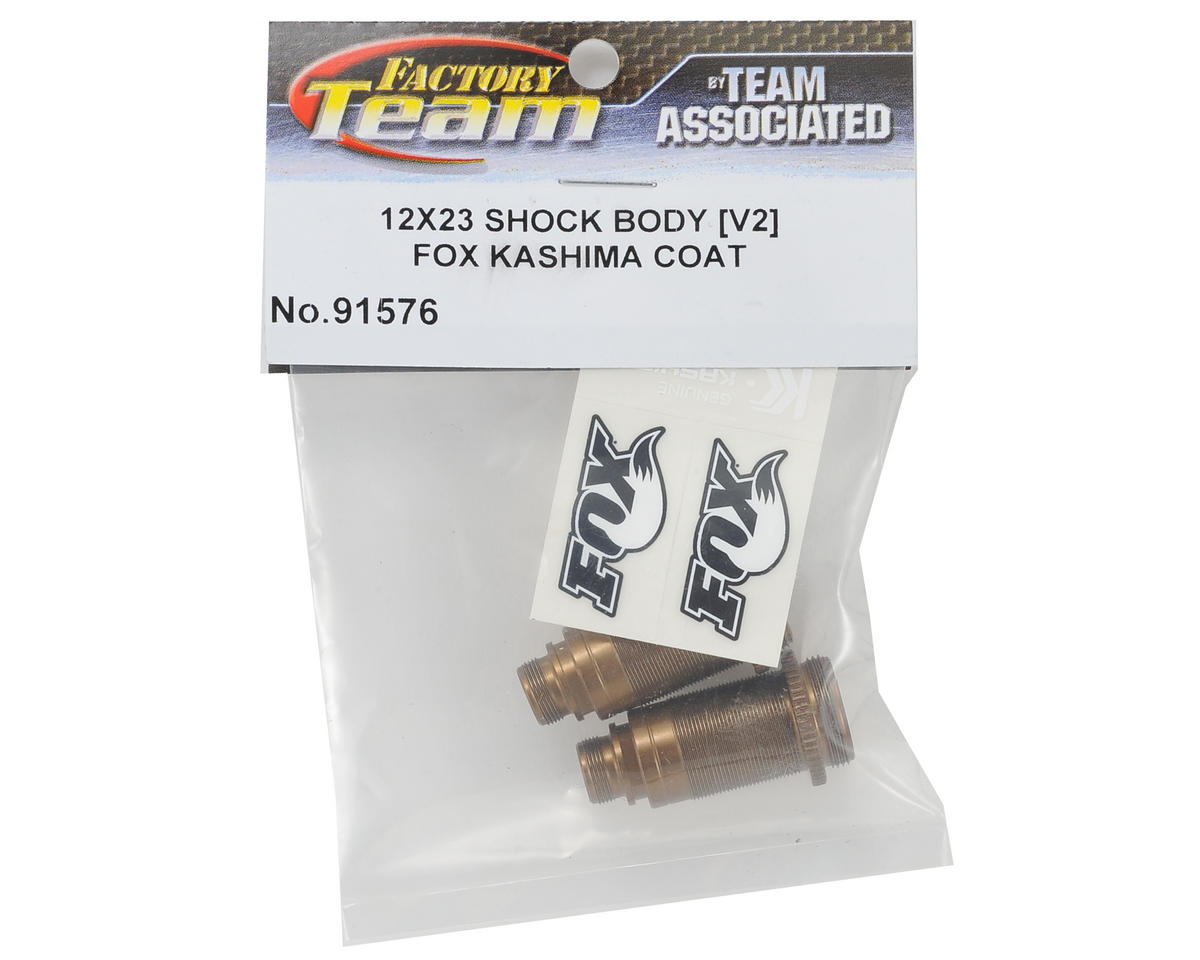 Team Associated Factory Team FOX Kashima Coated V2 Buggy Front Shock Body (2)