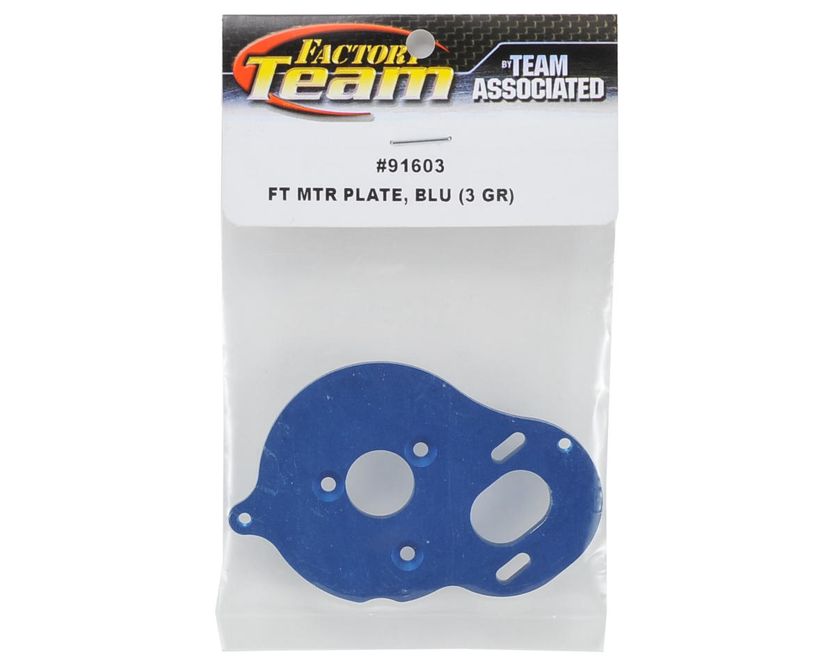 "Team Associated Aluminum Factory Team ""3 Gear"" Motor Plate (Blue)"
