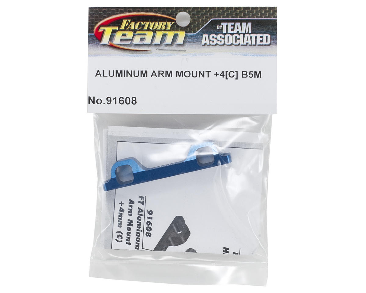 Team Associated Factory Team +4mm Aluminum Arm Mount (C, B)
