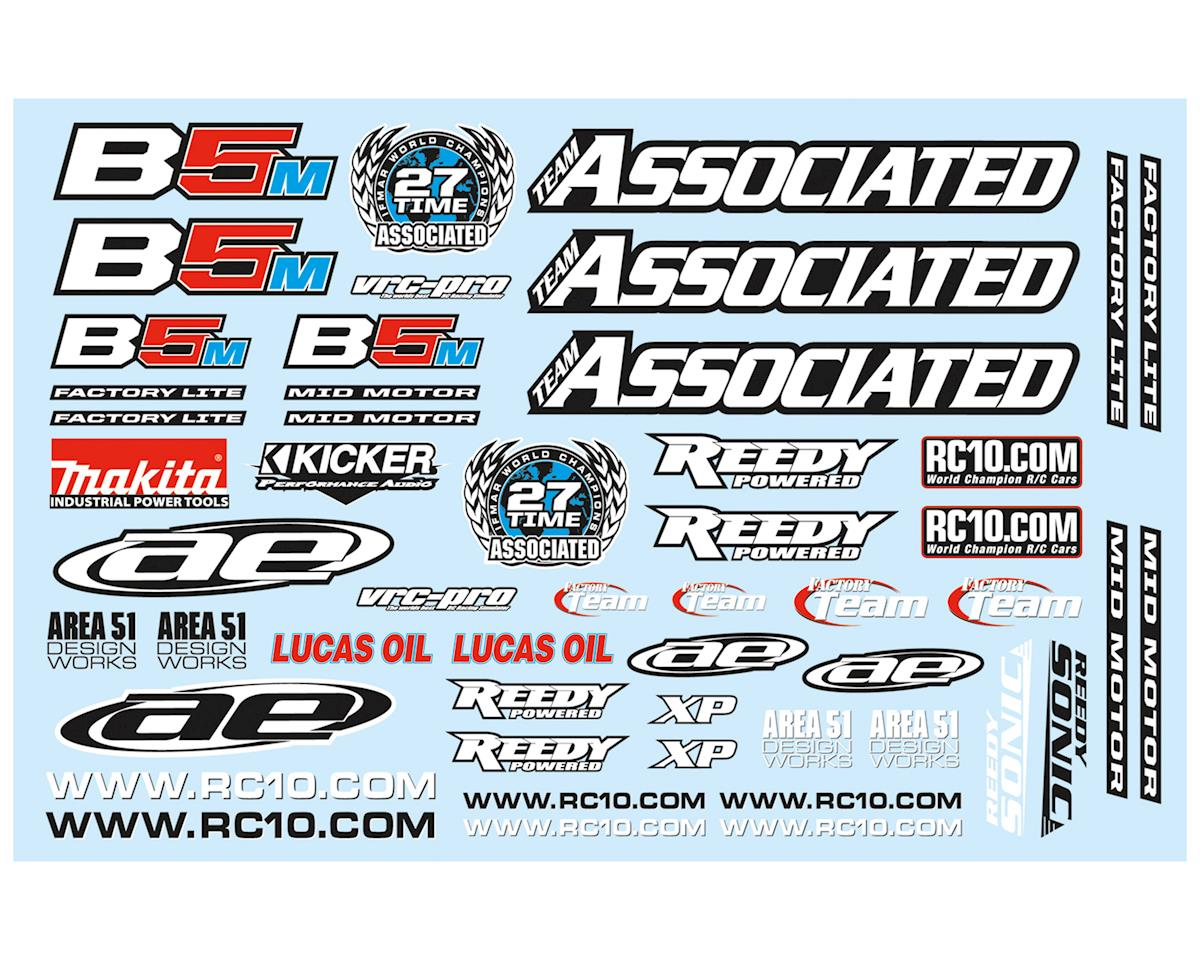 Team Associated RC10B5M Factory Lite Decal Sheet