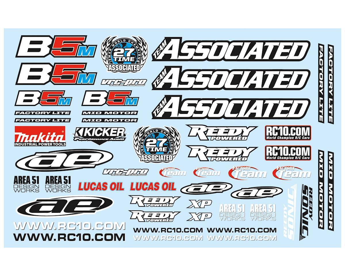Team Associated RC10B5M Factory Lite Decal Sheet