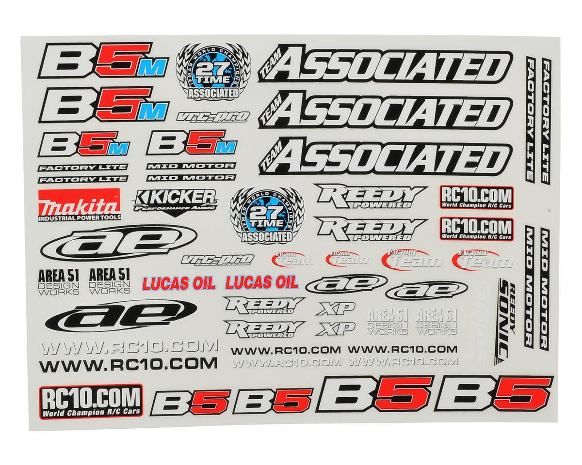 Team Associated B5 / B5M Series Decal Sheet