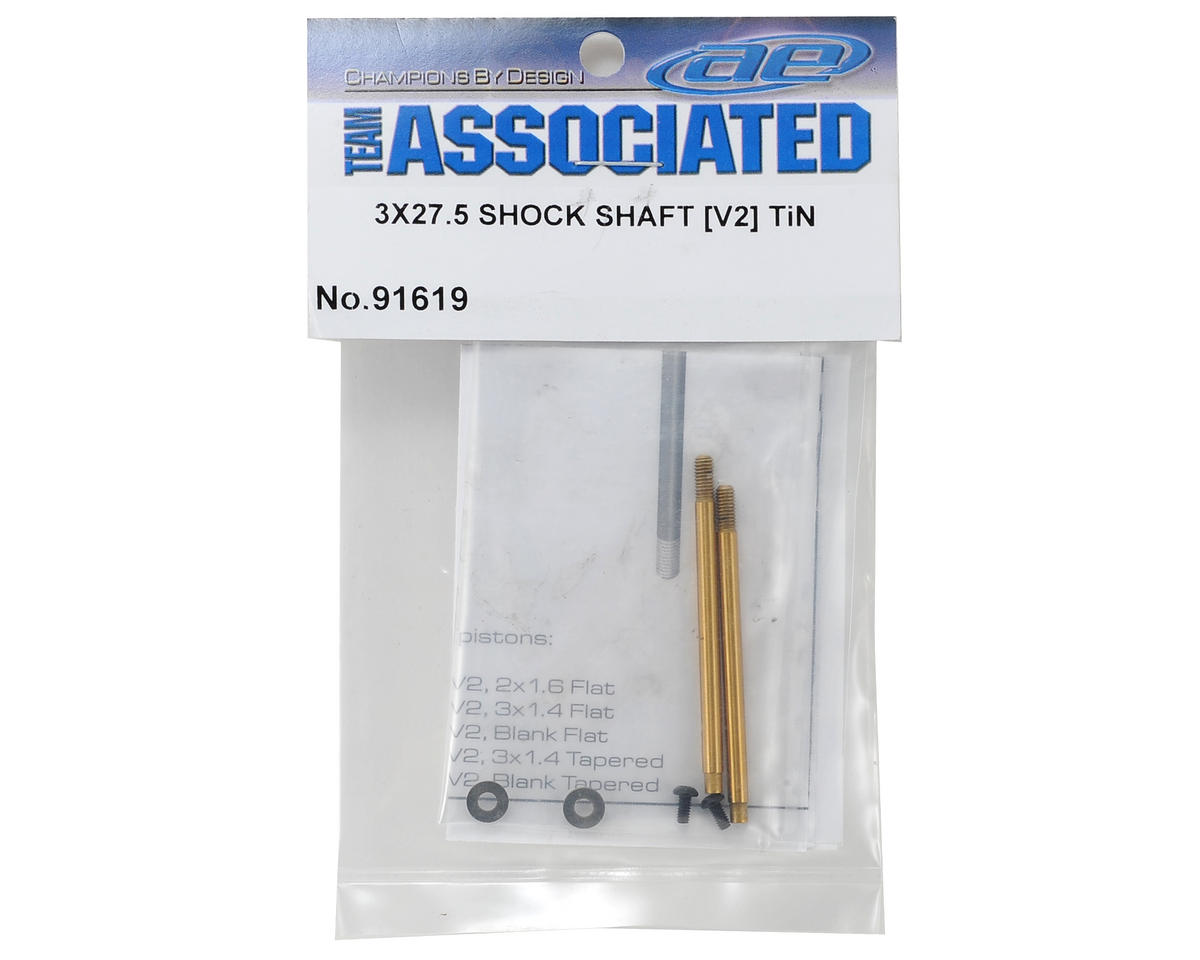 Team Associated 3x27.5mm V2 Ti-Nitride Screw Mount Shock Shaft (2)