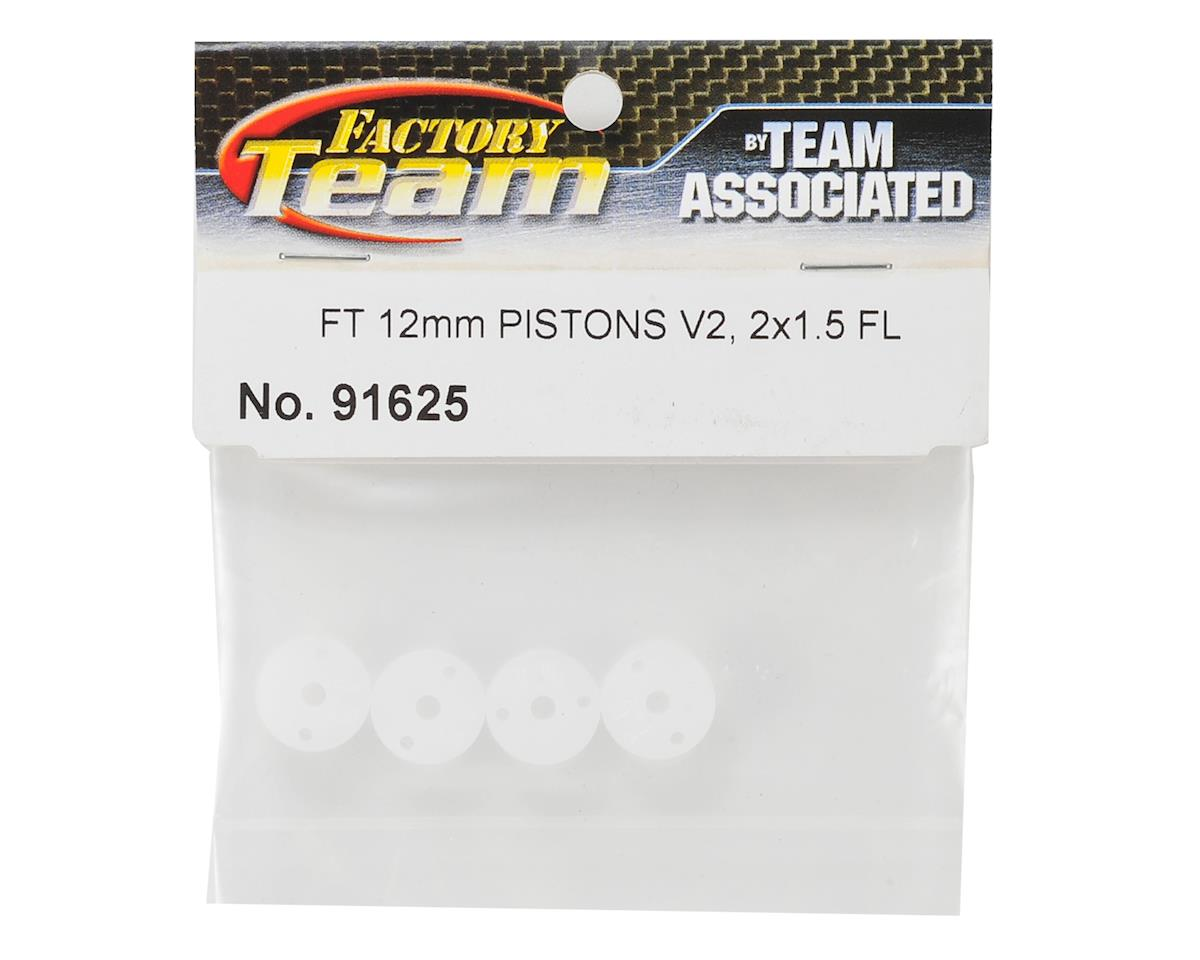Team Associated 12mm FT V2 Flat Mount Shock Piston (4) (2x1.5mm)