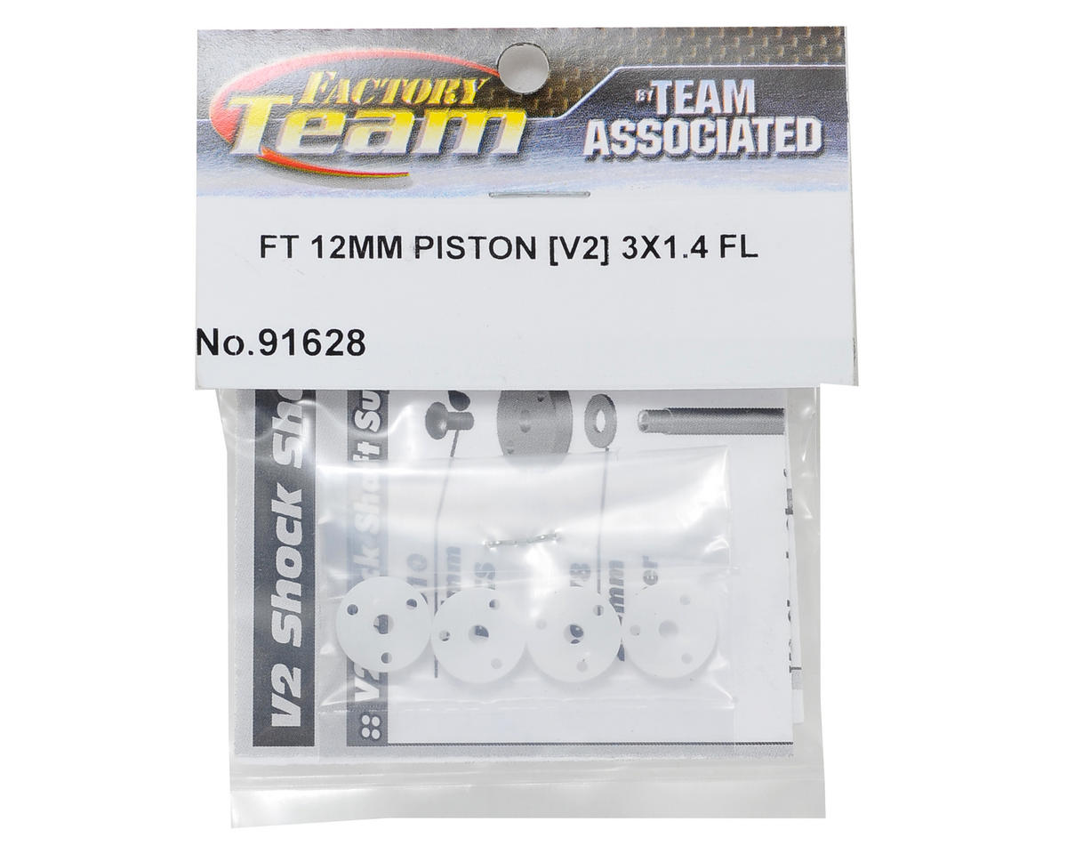 Team Associated Factory Team V2 Flat Mount Shock Piston Set (3x1.4mm)(4)