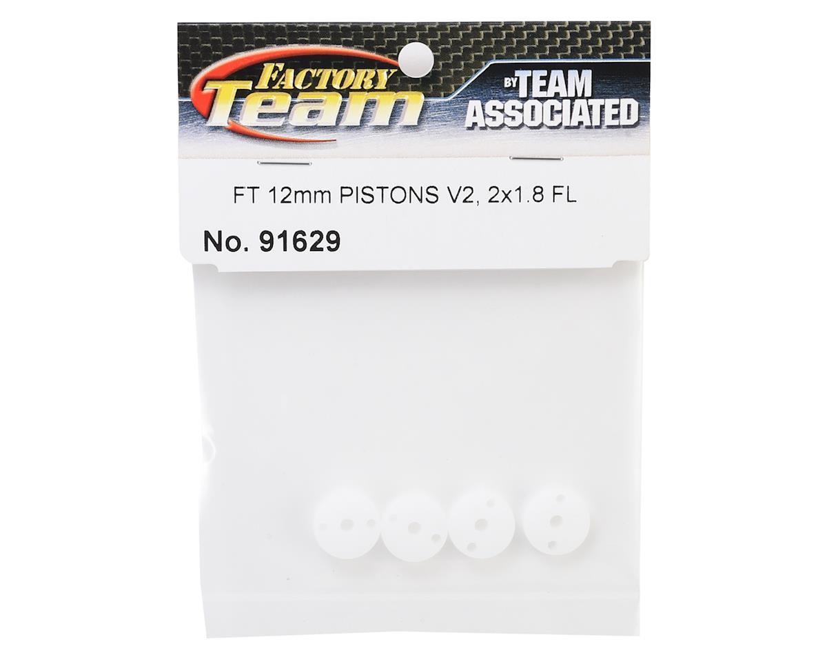 Team Associated 12mm Factory Team V2 Flat Shock Piston (4) (2x1.8mm)