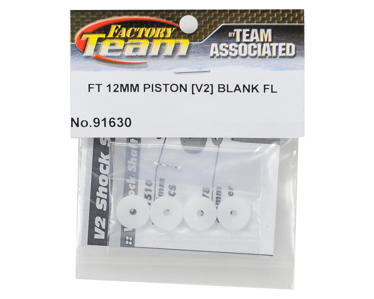 Team Associated Factory Team V2 Flat Mount Shock Piston Set (Blank)(4)