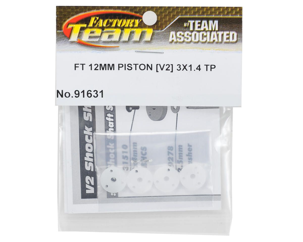 Team Associated Factory Team V2 Tapered Mount Shock Piston Set (3x1.4mm)(4)