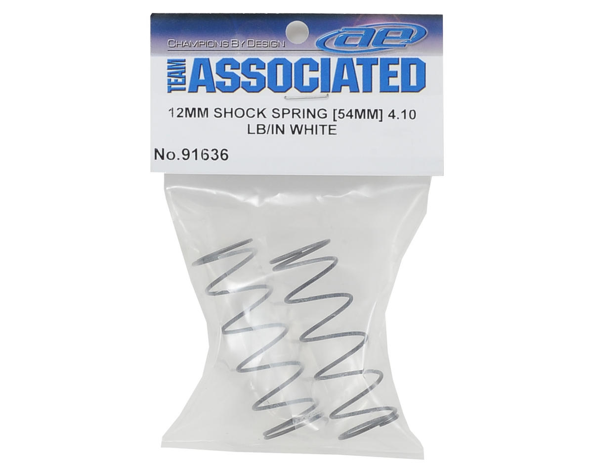 12mm Front Shock Spring (2) (White/4.10lbs) (54mm Long) by Team Associated
