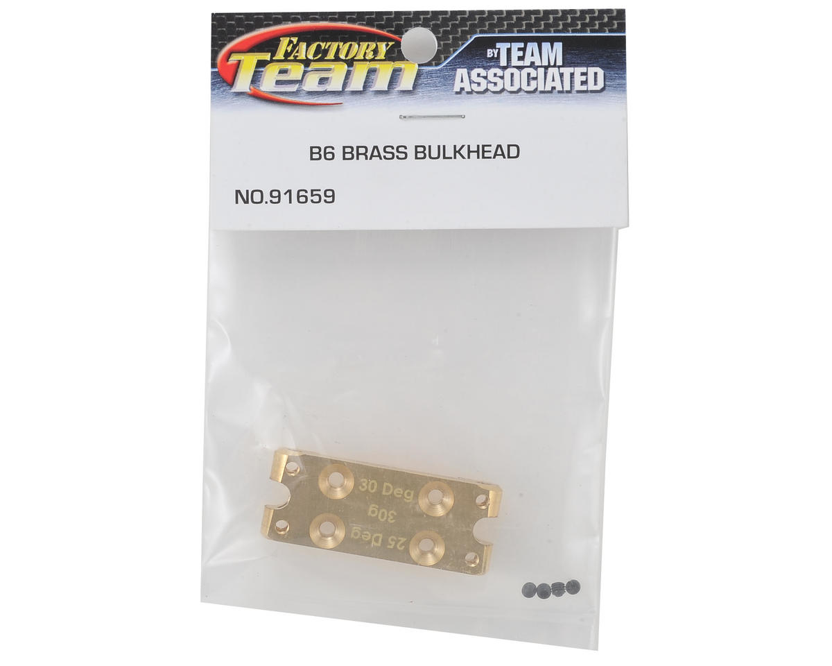 Team Associated B6 Factory Team Brass Bulkhead