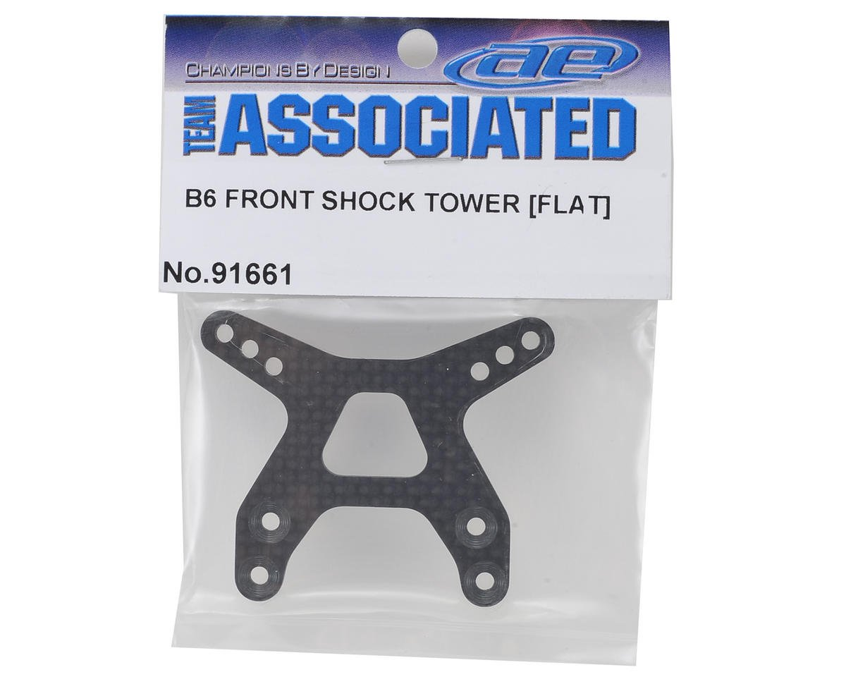 "B6 Carbon Fiber ""Flat"" Front Shock Tower by Team Associated"