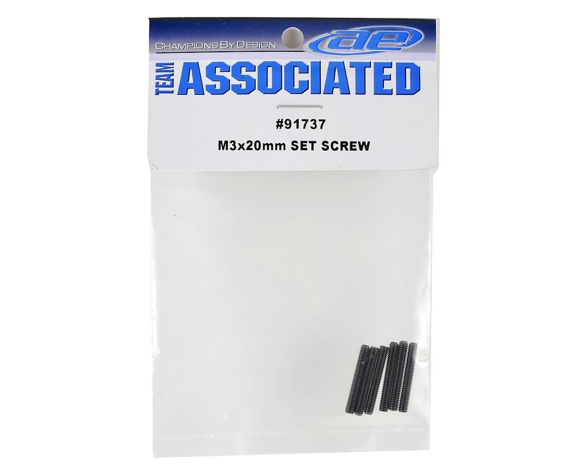 Team Associated 3x20mm Set Screws (6)
