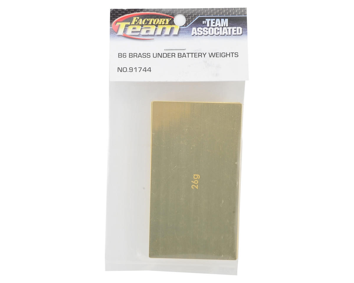 Team Associated LiPo Battery Brass Weight Plate Set (1x 26g & 1x 43g)