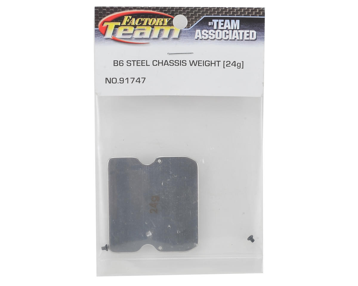 B6 Steel Chassis Weight (24g) by Team Associated