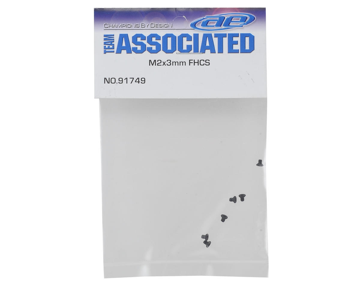 Team Associated 2x3mm Flat Head Screws (6)