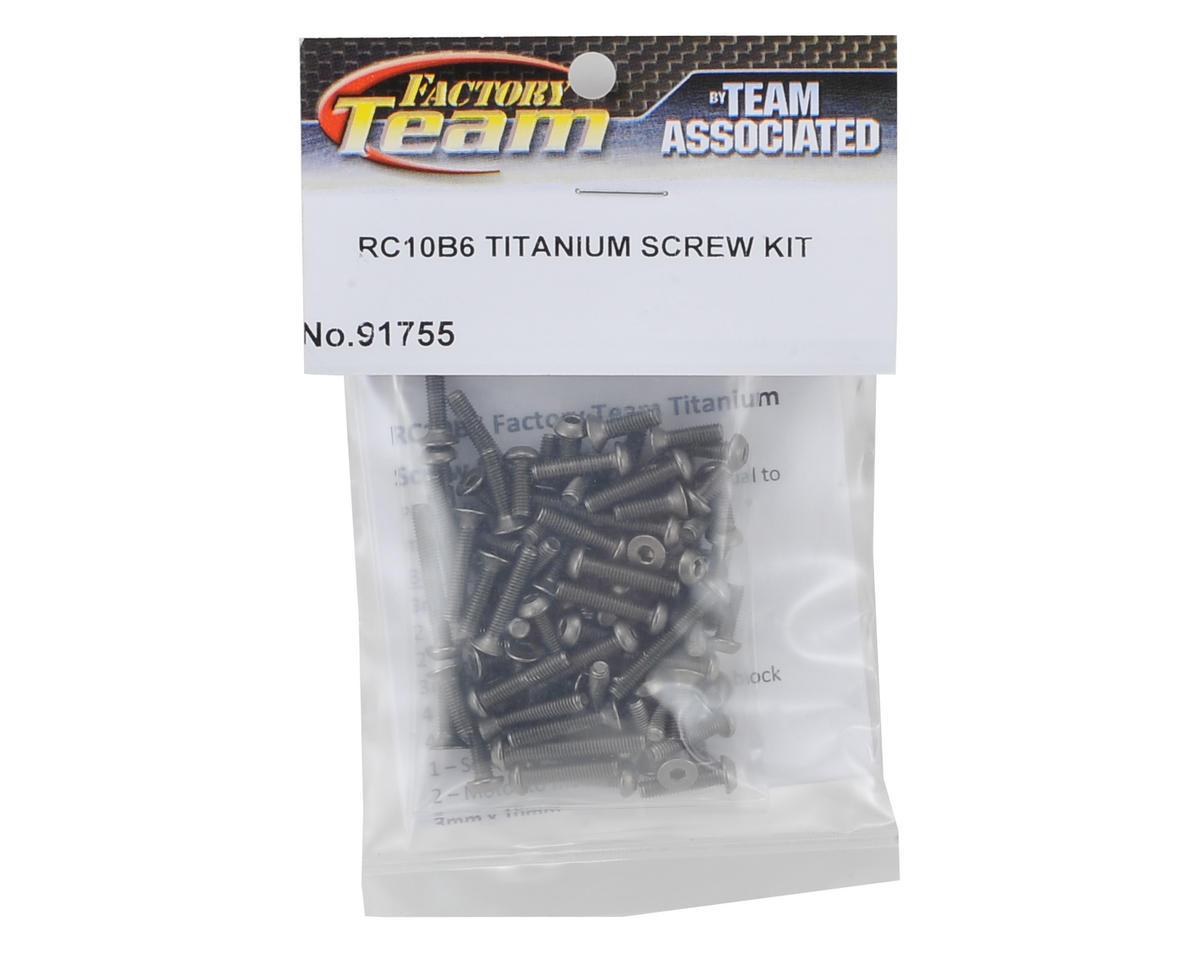 Team Associated RC10 B6D B6/B6D Factory Titanium Screw Kit (90)