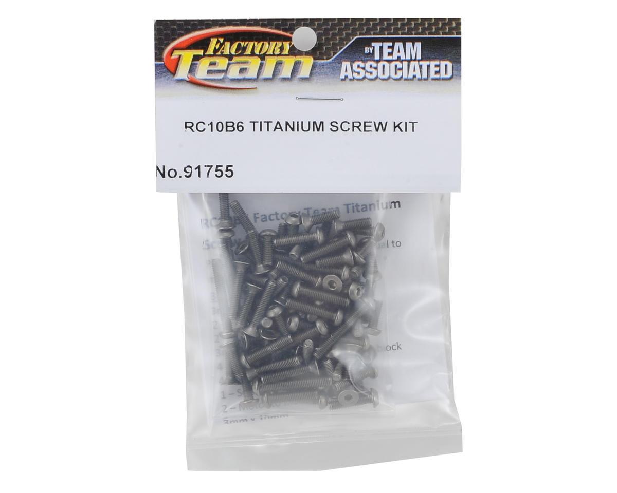 Team Associated B6/B6D Factory Team Titanium Screw Kit (90)