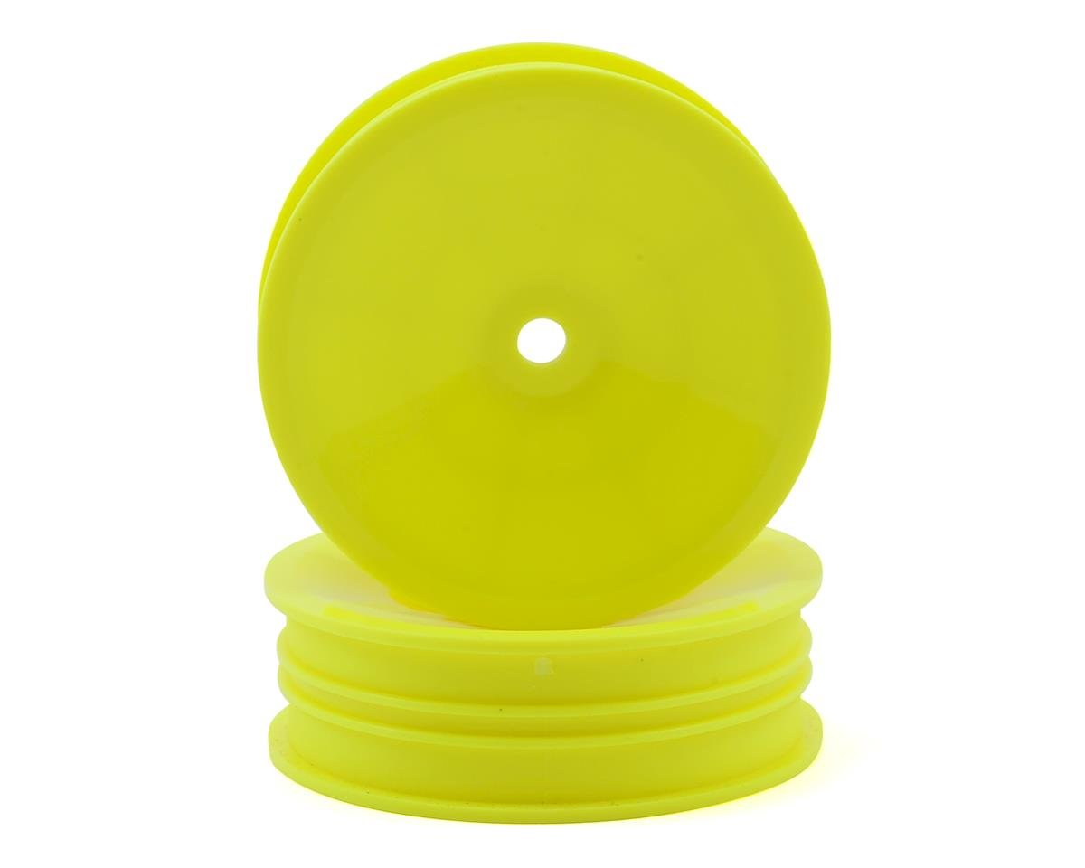 "12mm Hex 2.2"" ""Slim"" Front Buggy Wheels (Yellow) (2) (B6) by Team Associated"