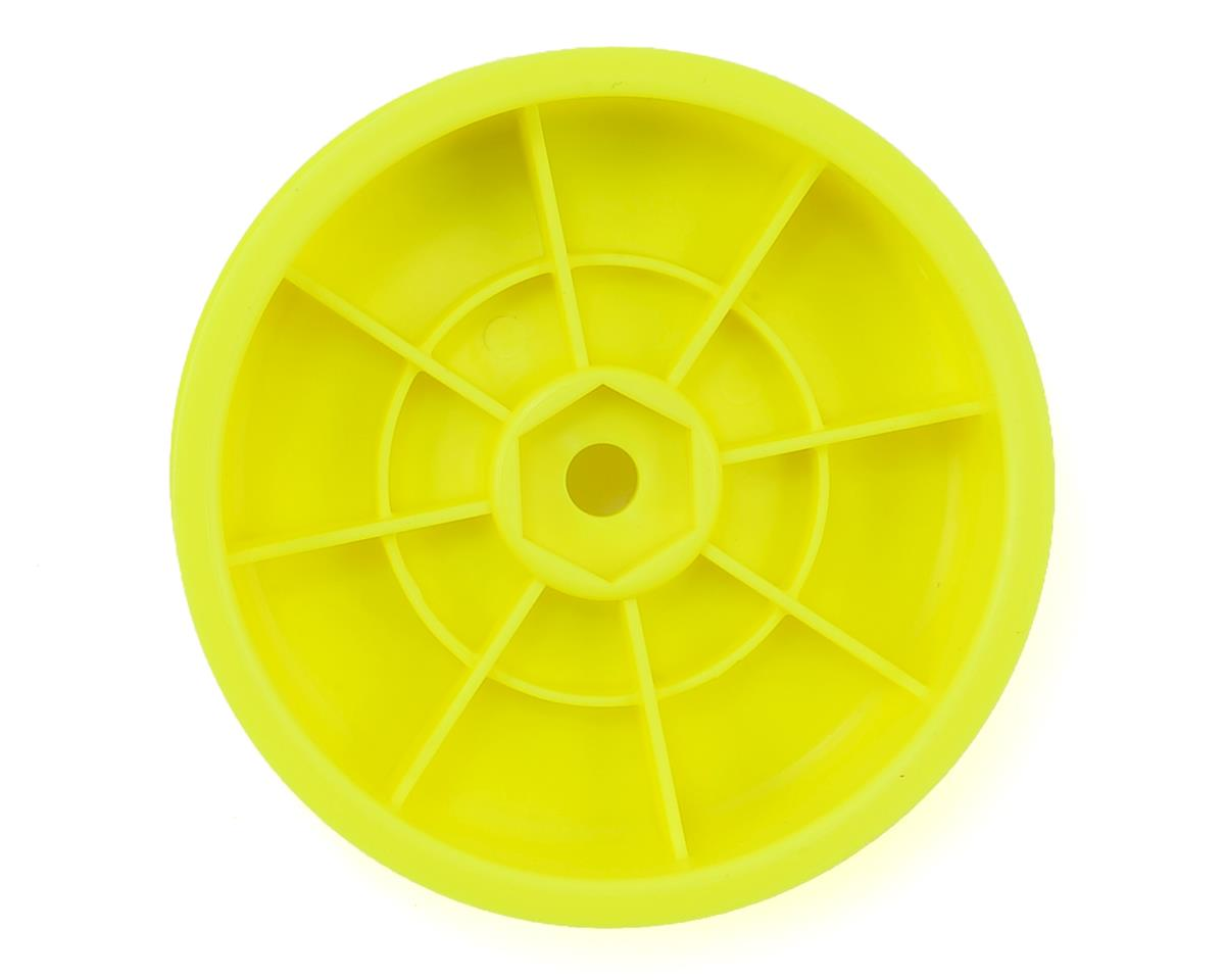 """Team Associated 12mm Hex 2.2"""" """"Slim"""" Front Buggy Wheels (Yellow) (2) (B6)"""