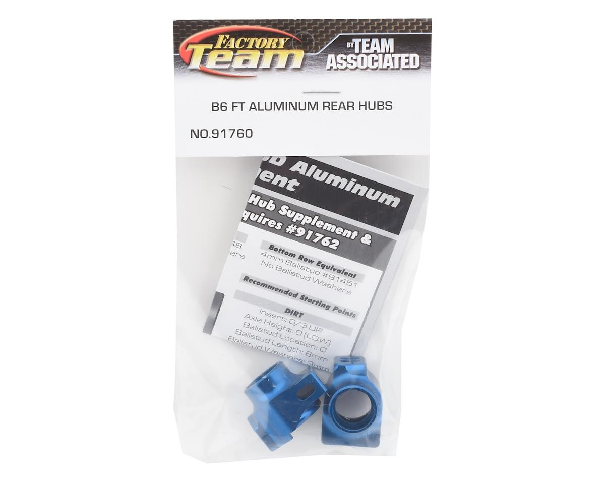 Team Associated B6/B6D Factory Team Aluminum Rear Hub Set (Blue)