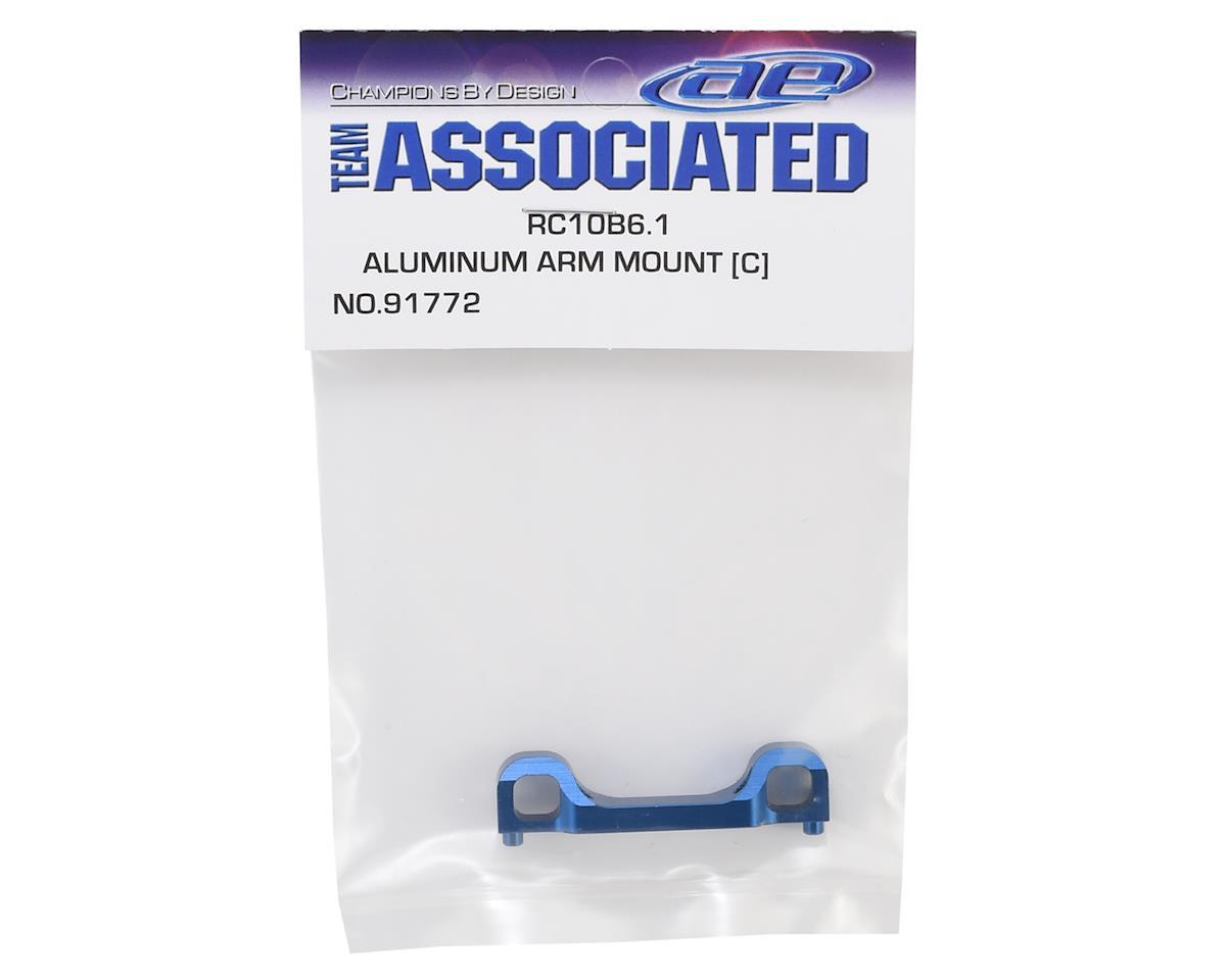 """Team Associated B6.1/B6.1D Aluminum """"C"""" Mount (Blue)"""