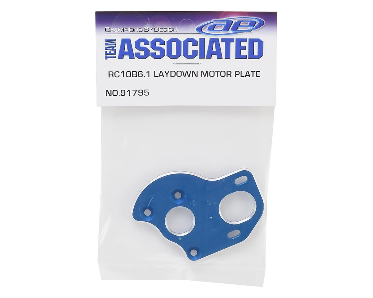 Team Associated B6.1/B6.1D Aluminum Laydown Motor Plate (Blue)