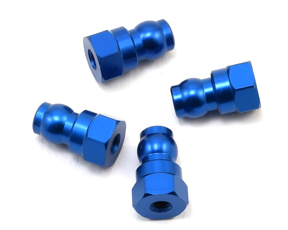 Team Associated 12mm Aluminum Shock Bushings (Blue)