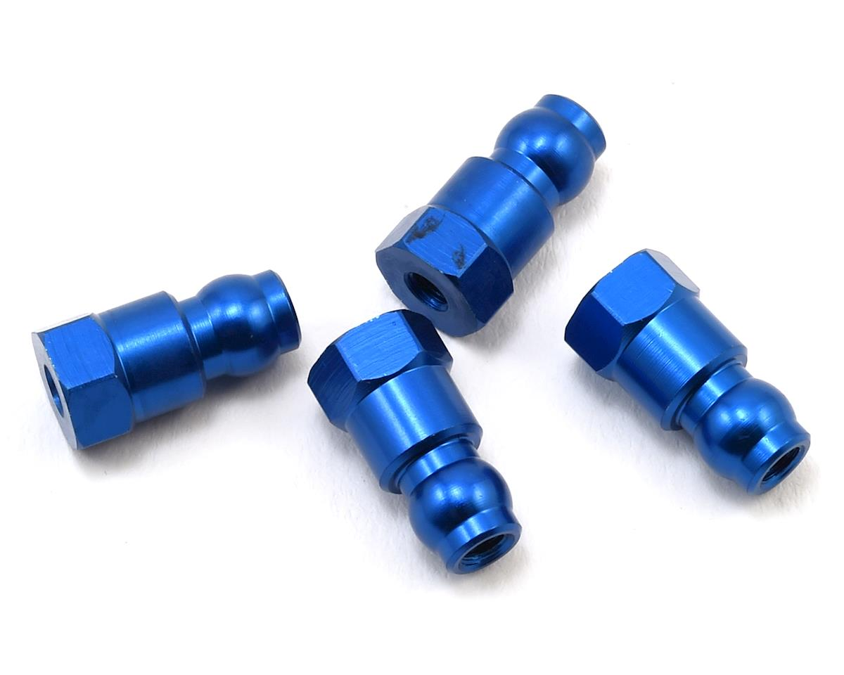 Team Associated 14mm Aluminum Shock Bushings (Blue)