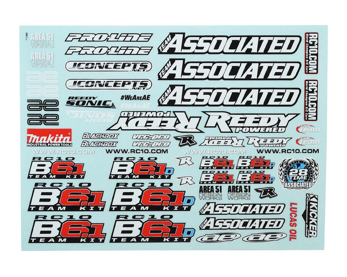 Team Associated B6.1/B6.1D Decal Sheet