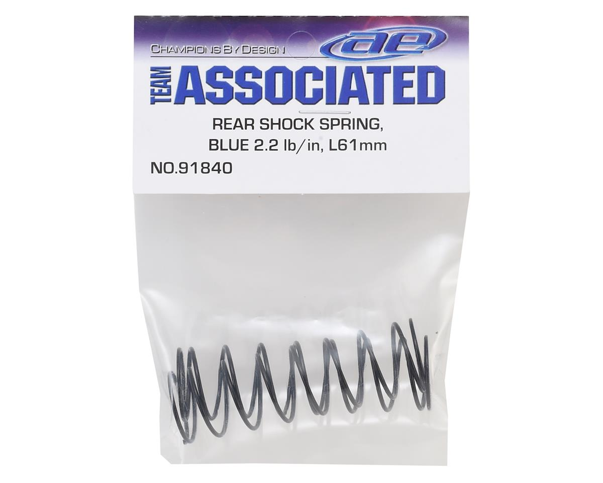 Team Associated 12mm Rear Shock Spring (2) (Blue/2.20lbs) (61mm Long)