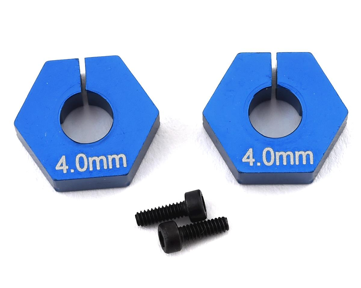 Team Associated RC10 B6.2 4.0mm Clamping Wheel Hex (Blue) (2)