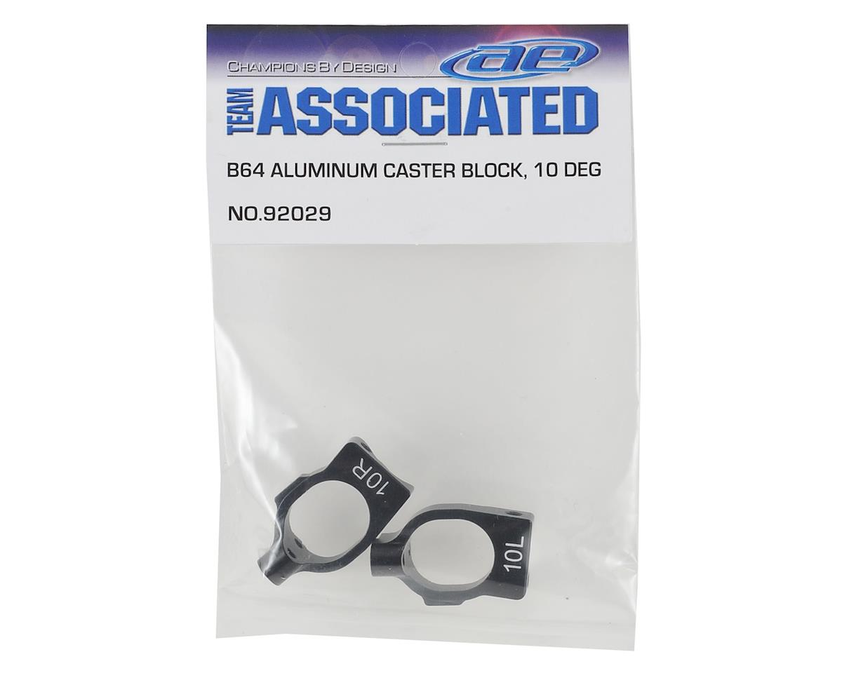 B64 Aluminum 10 Degree Caster Blocks by Team Associated
