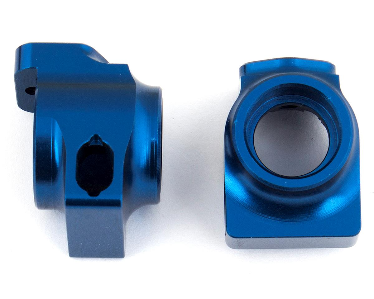 Aluminum B64 Factory Team Rear Hubs (Blue) (2) by Team Associated