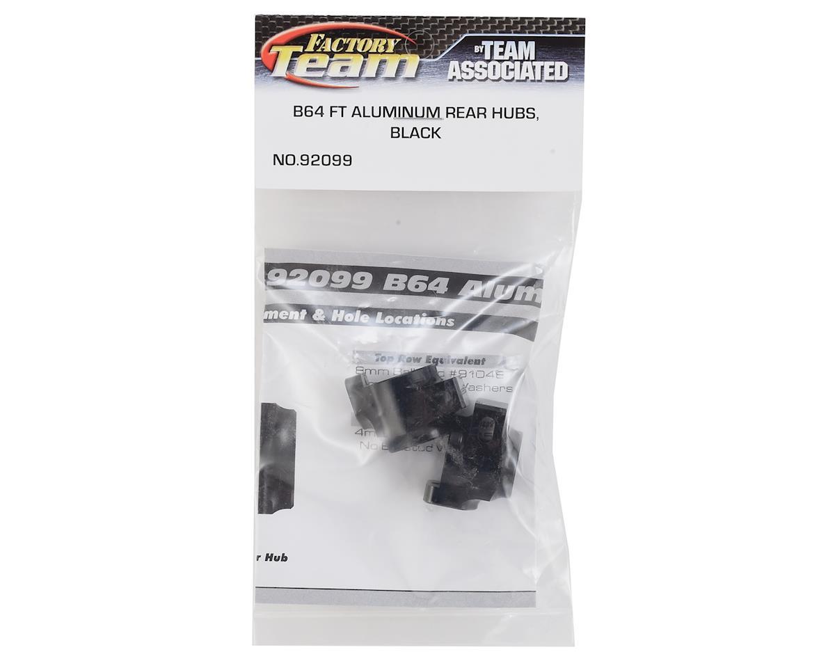 Team Associated B64 Factory Team Aluminum Rear Hubs (Black) (2)