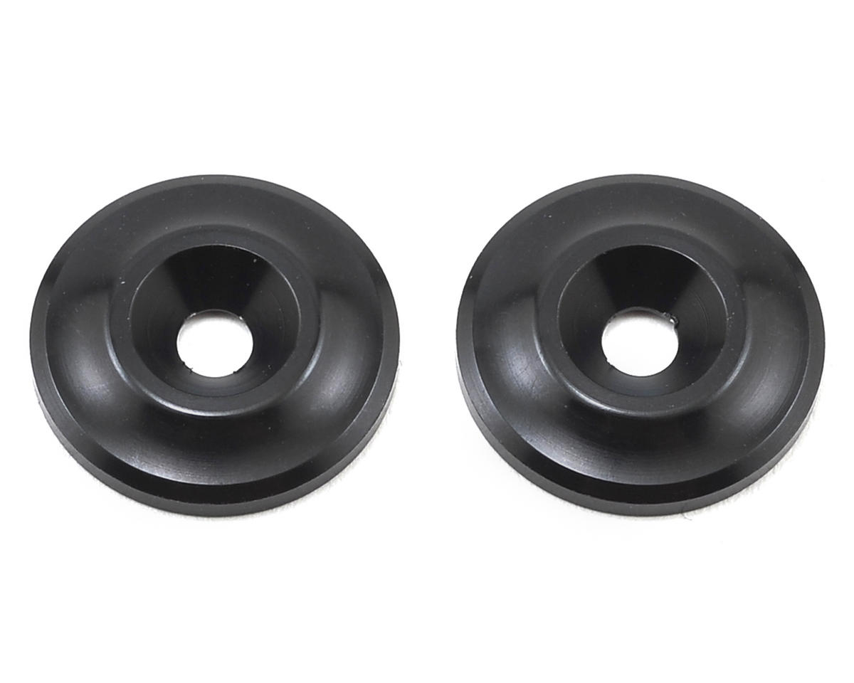 Team Associated Factory Team Aluminum Wing Buttons (Black)
