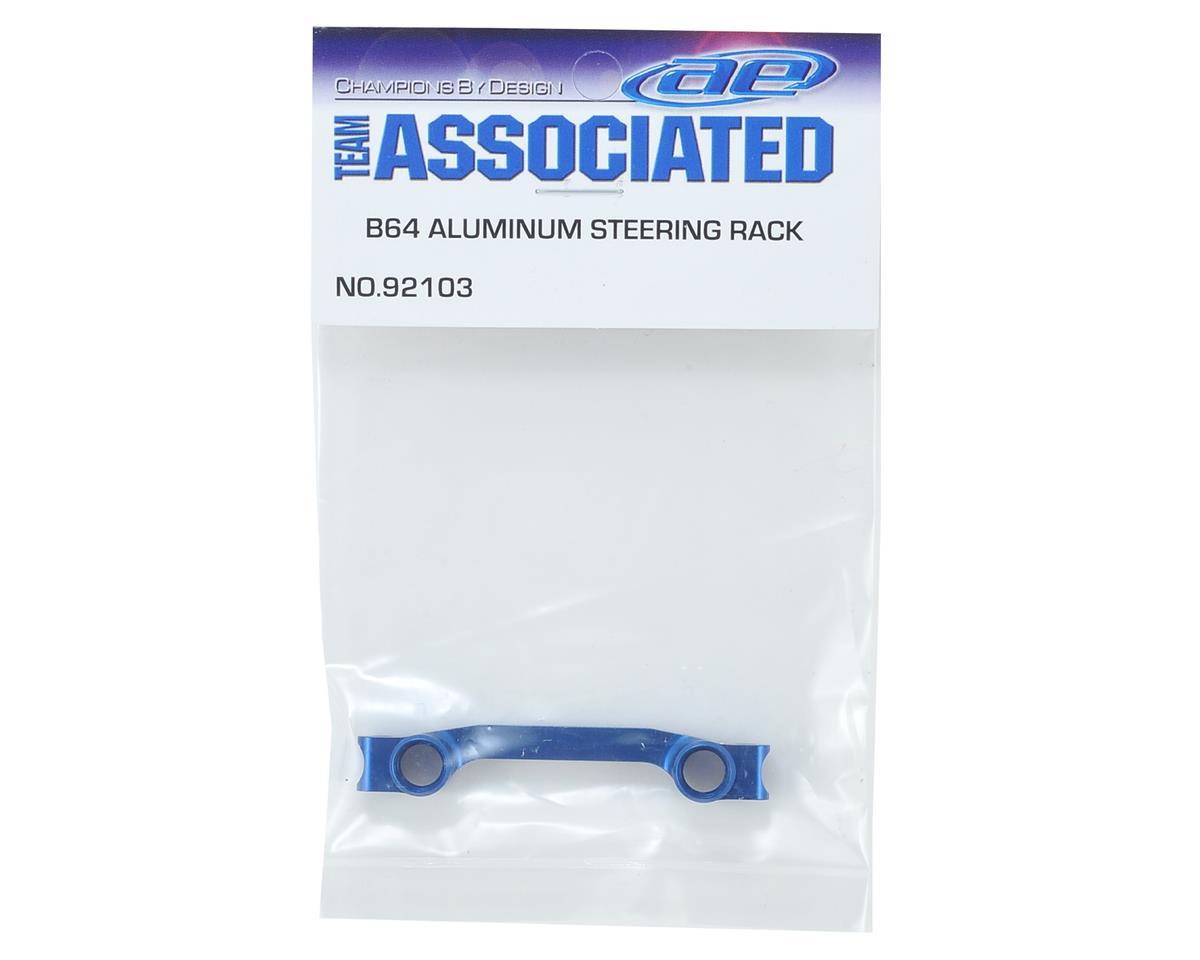 Team Associated Aluminum B64 Factory Team Steering Rack (Blue)