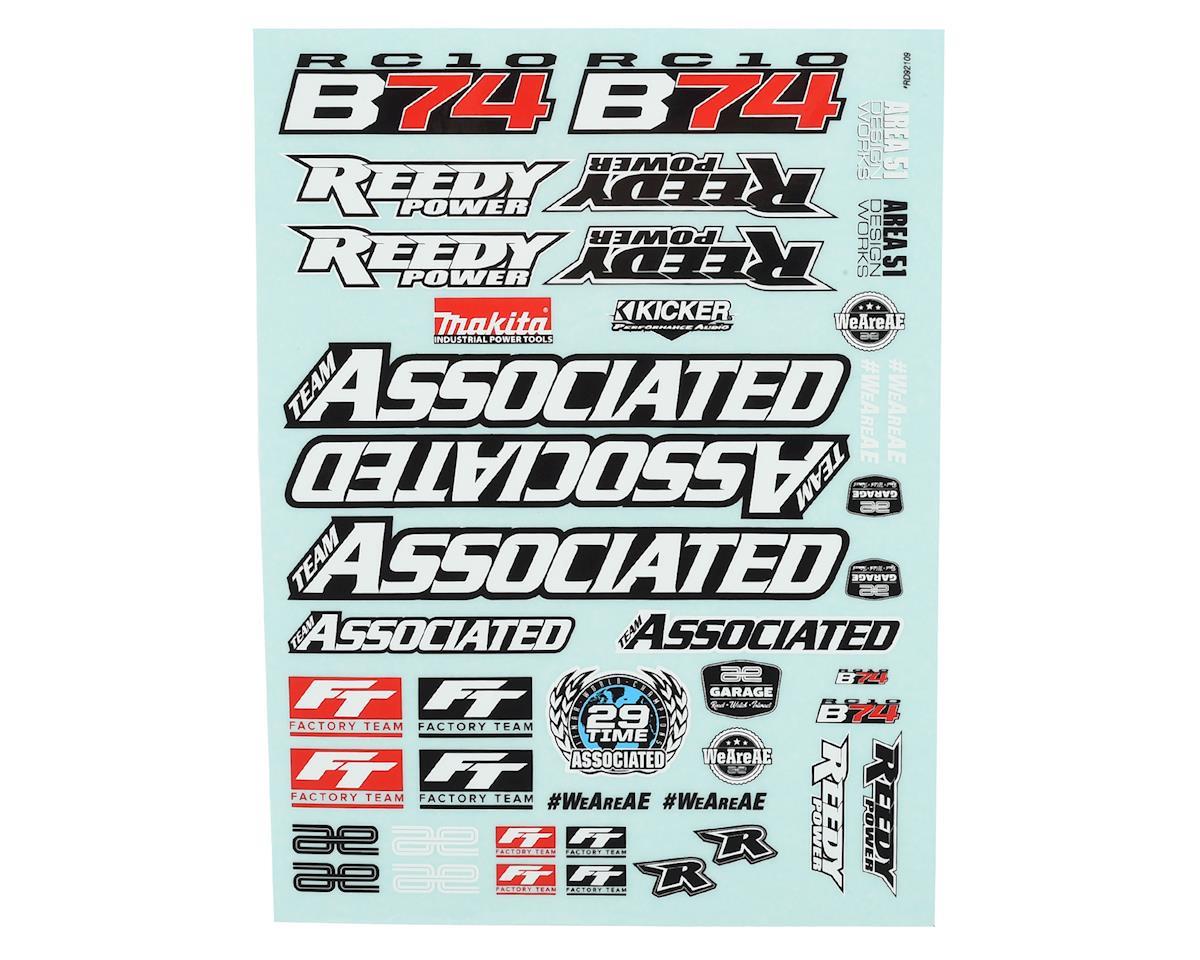 Team Associated RC10B74 Decal Sheet