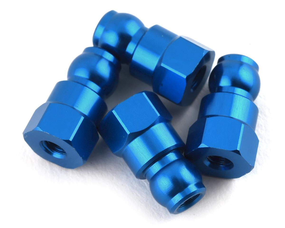 Team Associated RC10B74 10mm Shock Bushing (Blue) (4)