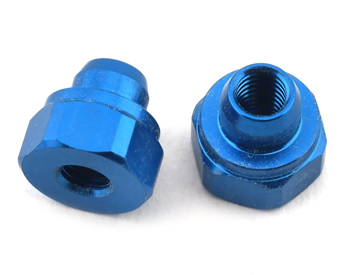 Team Associated RC10B74 Aluminum Battery Strap Nut (Blue) (2)