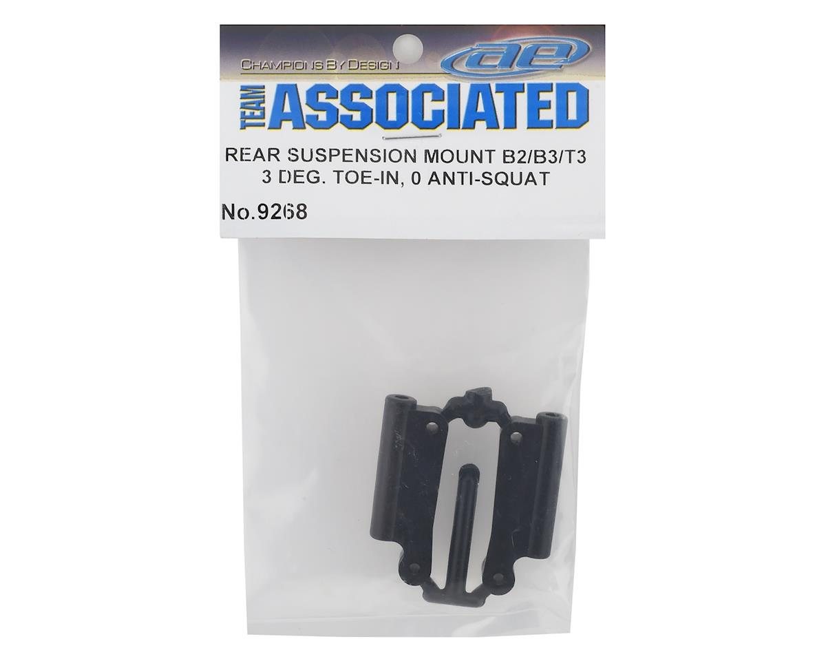 Rear Suspension Mount Set (3° Toe/0° Anti-Squat) (RC10B2/3,T3) by Team Associated