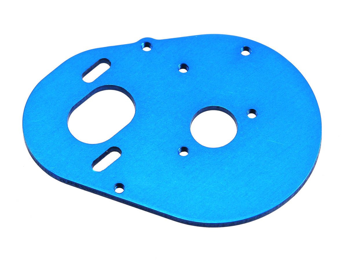 Team Associated Aluminum Motor Plate (Blue)